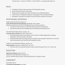 Resume Example For An Hourly Position