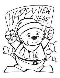 New Years Coloring Pages 8 Colouring 2018 Betterfor