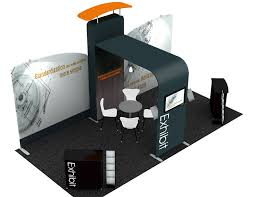 Portable Display Stands For Exhibitions Gorgeous Trade Show Displays Portable Display Stands NVP Exhibits