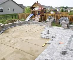 patio and deck installation landscape