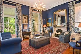 living room victorian lounge decorating ideas. Classic Victorian Living Room In Blue And Gold [From: Ryan Lahiff Photography] Lounge Decorating Ideas N