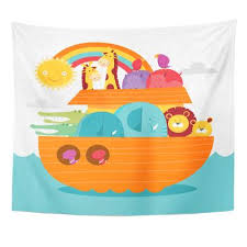 noah s ark crib bedding at