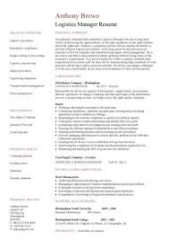 Logistics Manager resume 2 ...