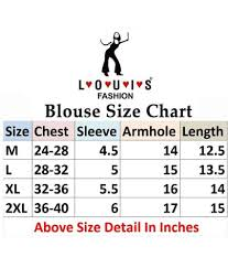 Readymade Blouse Size Chart Louis Fashion Red Lycra Readymade Without Pad Blouse