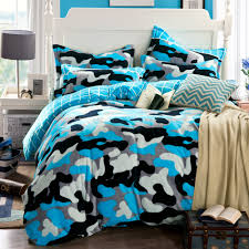 stylish inspiration camo duvet cover queen camouflage blue bed sheets funda nordica housse de couette nautical