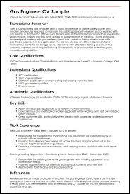 Gas Engineer Cv Sample | Myperfectcv