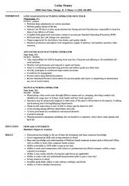 Production Operator Resume Examples Manufacturing Operator Resume Samples Velvet Jobs Production 4