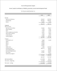Monthly Financial Report Format In Excel And Budget For Non Profit