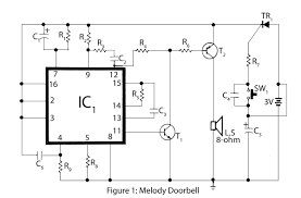 mains trigger musical door bell electronics project electronics clapper · melody doorbell