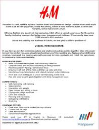Fashion Merchandising Resume Luxury Visual Merchandiser Resume