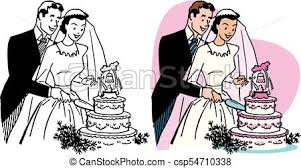 cutting the wedding cake clipart. Modren Clipart Wedding Cake  Csp54710338 Intended Cutting The Clipart K