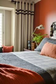 Orange Bedroom Curtains Bedroom Exciting Colored Ofreen Design Ideas With Charming