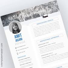 Cv Template Collection 191 Free Professional Cv Templates In Word