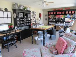 Sewing Room Storage Cabinets Alluring Real Sewing Room Decor Showcasing Idyllic Home Wooden