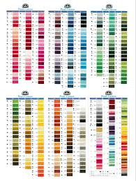 Dmc Pearl Cotton 8 Color Chart Lace Worx