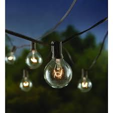 Home Depot Cafe Lights Hampton Bay 12 Light Large Cafe Clear String Lights