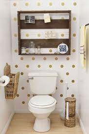 bathroom decor for littles via Babble polka dots in a small bathroom .bathroom  decor Divide space with a screen. // 27 Clever And Unconven.