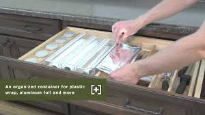 Plastic Furniture Wrap Schuler Cabinetry Wrap Organizers Kitchen Storage Part 25 Youtube