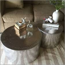 furniture silver drum coffee table australia metal wood plank nz with storage krost business furniture