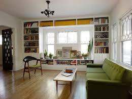window built in bookshelves