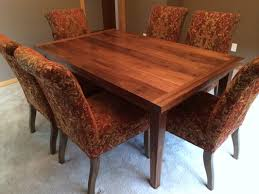 i custom designed and built this black walnut dining table