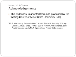 Ppt An Introduction To Mla Citation Style Powerpoint Presentation
