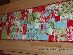 Quick and Easy Christmas Table Runner | Quilt tutorials, Easy and ... & Christmas quilt patterns Adamdwight.com