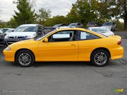 2003 Yellow Chevrolet Cavalier LS Sport Coupe #54963790 Photo #2 ...