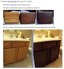 Restain Oak Kitchen Cabinets Best Staining Oak Cabinets An Espresso Color DIY Tutorial Bathroom