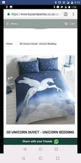 unicorn single bedding