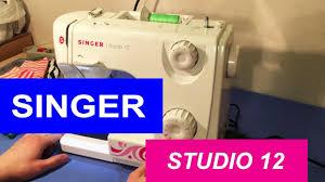 <b>Швейная</b> машина <b>Singer</b> Studio 12. Обзор и тест драйв - YouTube