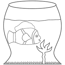 Small Picture Clown Fish in Fish Bowl Coloring Page Fish
