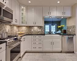 kitchen kitchen backsplash white cabinets rectangle silver sink also stunning gallery tile elegant white kitchen