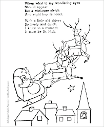 Unique Santa And Reindeer Coloring Pages And And Reindeer Coloring