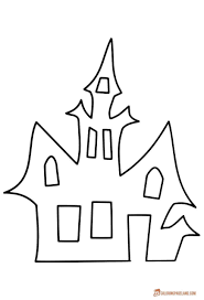 Haunted House Coloring Pages Marque Mansion House Coloring Pages