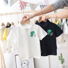 Áo Thun Polo Vải Cotton Kiểu Hàn Quốc Thời Trang 2020 Cho Bé Trai