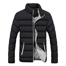 men s autumn and winter basic casual thick cotton down jacket stand collar warm coat size