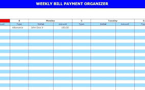 Excel Monthly Bill Tracker Excel Monthly Payment Bill Tracker Spreadsheet Bill Tracker Monthly