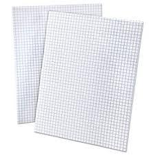 Amazon Com Ampad 8 1 2 X 11 Inches White Quad Pad 4 Square Inch