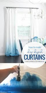 update a pair of basic white curtains with this simple dye technique for an ombre dip