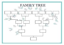 Free Family Tree Template Blank Chart Templates