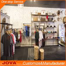 Retail free design kids clothing store interior design custom wood garments shop  decoration