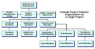 Sample Project Organization Chart Project Organization Structure Deliverables