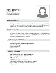 Mechanical Engineering Resume Objective Resume Examples Engineering
