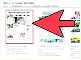 Fake Newspaper Template Word Microsoft Office Newspaper Template Free Download