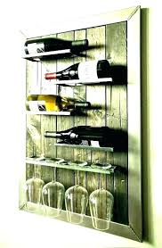 wine rack and glass storage bar cart with wine rack grove place distressed cocoa glass storage