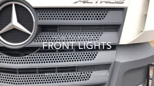 How To Replace The Front Lights H7 H1 21w 4w Bulbs Replacement Mercedes Benz Actros Mp4 Diy