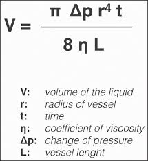 viscosity equation for liquids. figure 1: poiseuille equation. viscosity equation for liquids