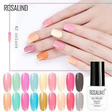 Rosalind Gel Polský Růžový želé Pure Color Pro Nehty Hybridní Lak Nail Primer Soak Off Primer Manikúra Top Coat Vernis Gel Uv At Vova