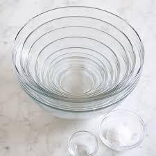 10 piece glass mixing bowl set